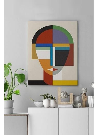 MarkaEv Canvas Geometrik Tablo 0084 Renkli